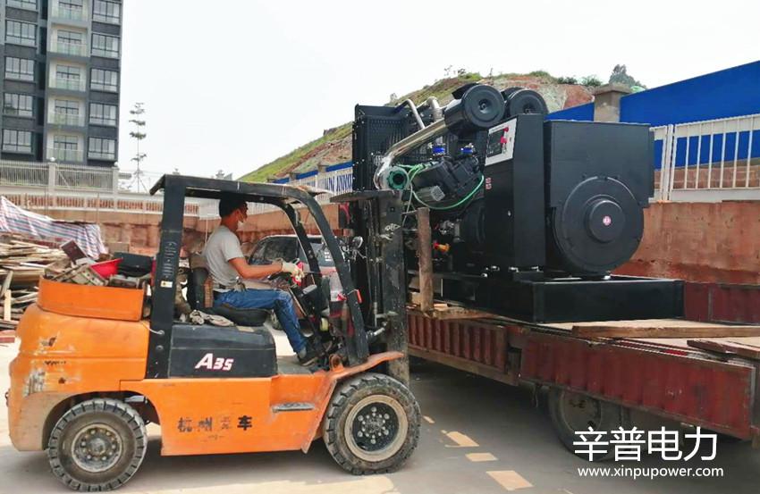 南宁交机一台600KW柴油发电机组——用于物流中心