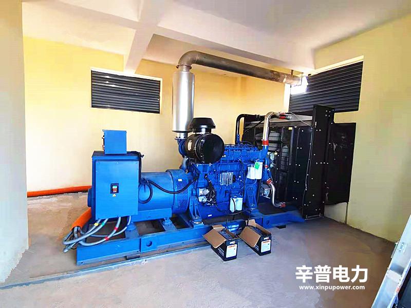 来宾交机两台玉柴发电机组——用于养猪场