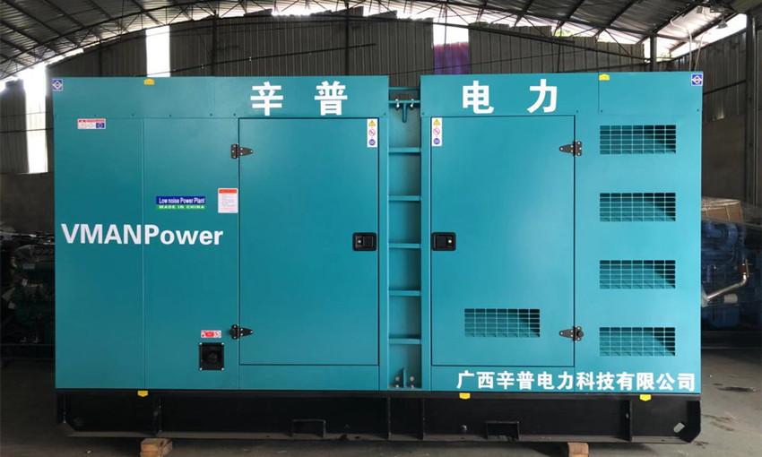 百色交机一台200kw威曼静音发电机组——用于应急部门