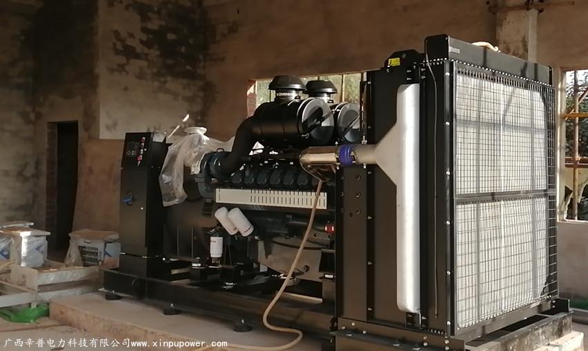 贺州交机一台800KW威曼动力发电机组-用于污水处理厂