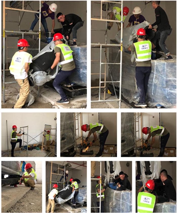 5月6日辛普电力服务工程师为用户玉柴550kw柴油发电机组安装完毕