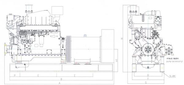上柴180~300KW船用机组工作原理图