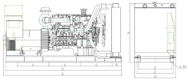 上柴300KW陆用柴油发电机组工作原理图