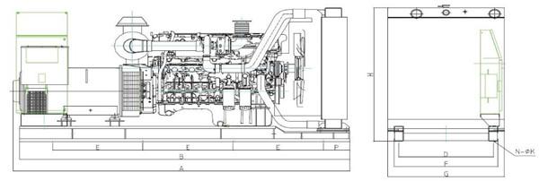 上柴200~600KW陆用机组工作原理图