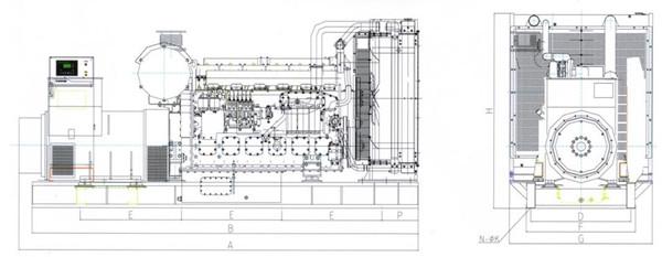 上柴700~800KW陆用机组工作原理图