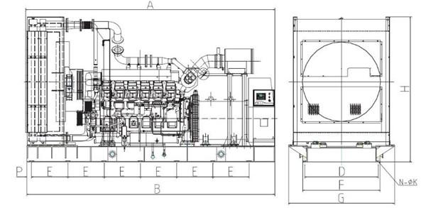 上柴500~2000KW陆用机组结构及工作原理图