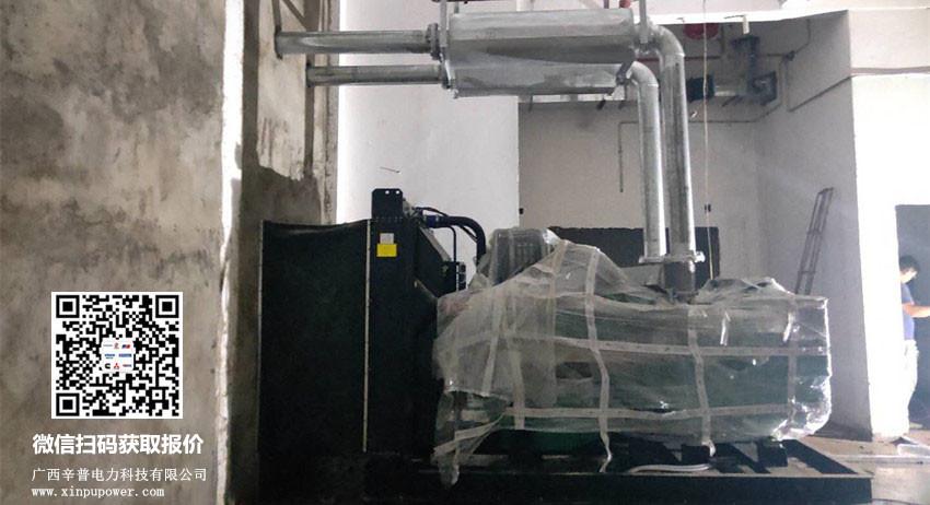 6月5日为梧州某房地产免费安装630kw科克发电机组