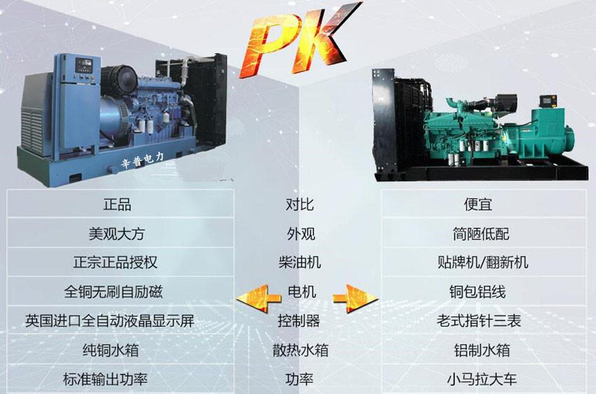 潍柴动力发电机组对比