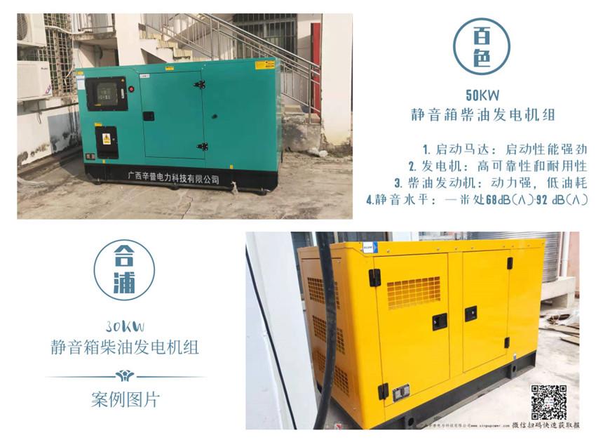 静音箱型发电机组案例