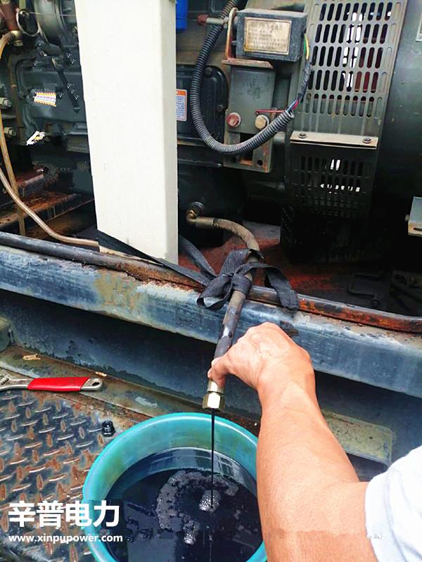 发电机组更换机油