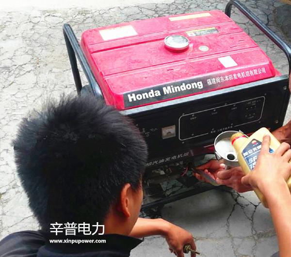 汽油发电机添加机油